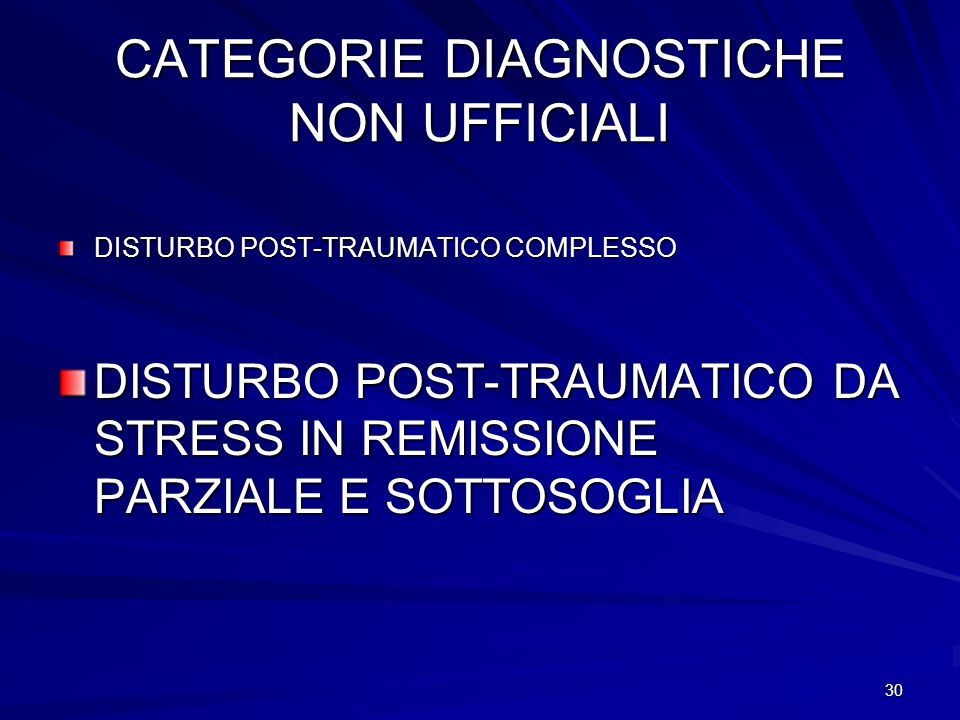 CATEGORIE DIAGNOSTICHE NON UFFICIALI