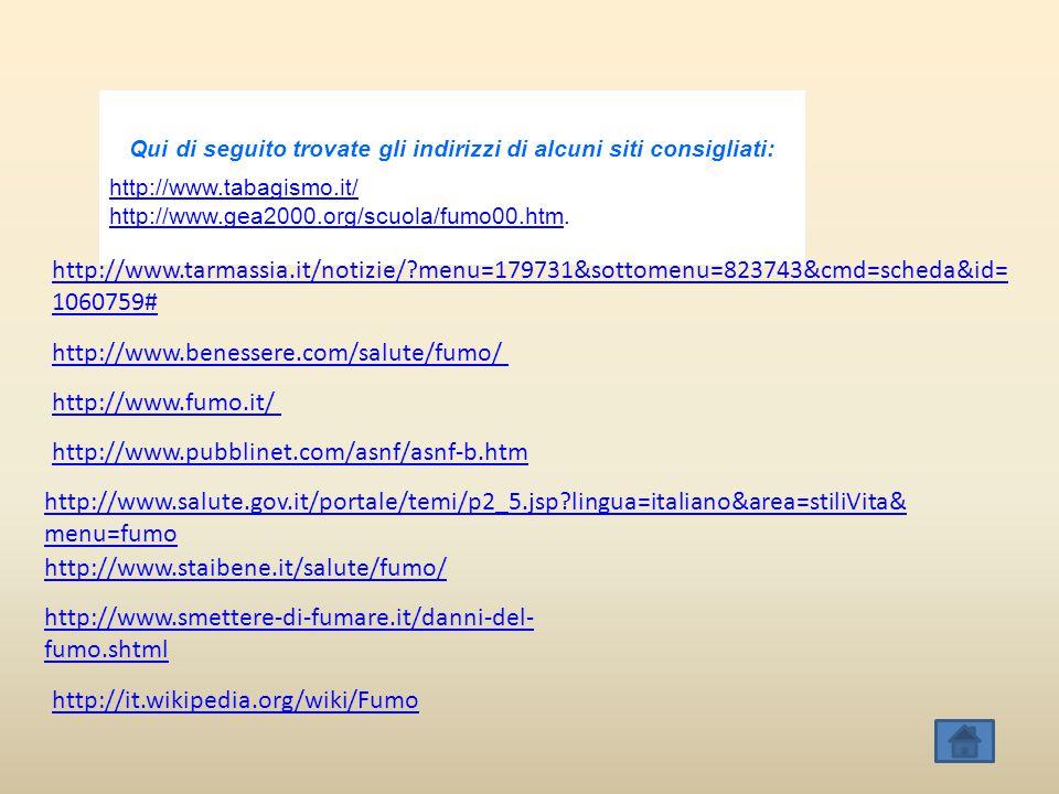 Qui di seguito trovate gli indirizzi di alcuni siti consigliati: