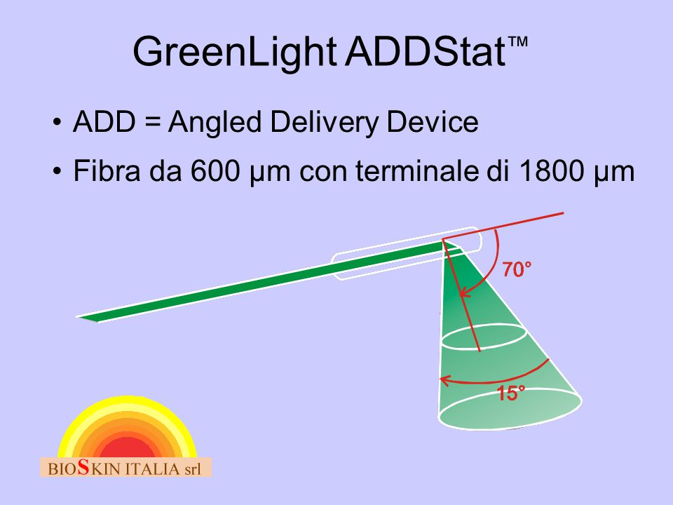 GreenLight ADDStat™ ADD = Angled Delivery Device