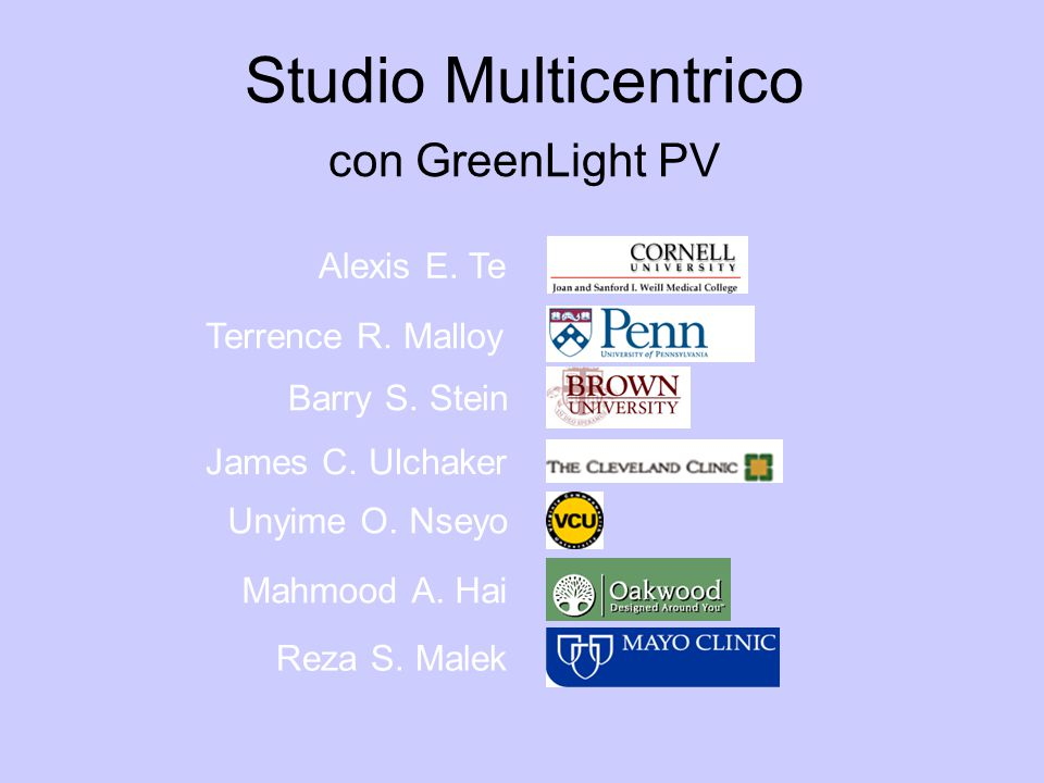 Studio Multicentrico con GreenLight PV