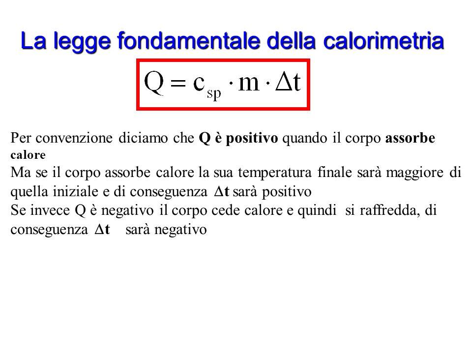 La legge fondamentale della calorimetria