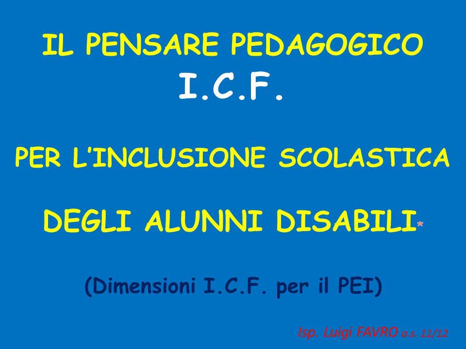 (Dimensioni I.C.F. per il PEI)