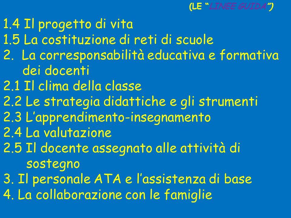 1.5 La costituzione di reti di scuole
