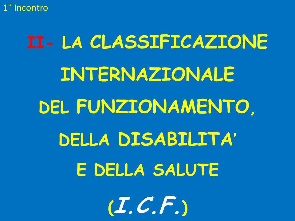 II- LA CLASSIFICAZIONE INTERNAZIONALE
