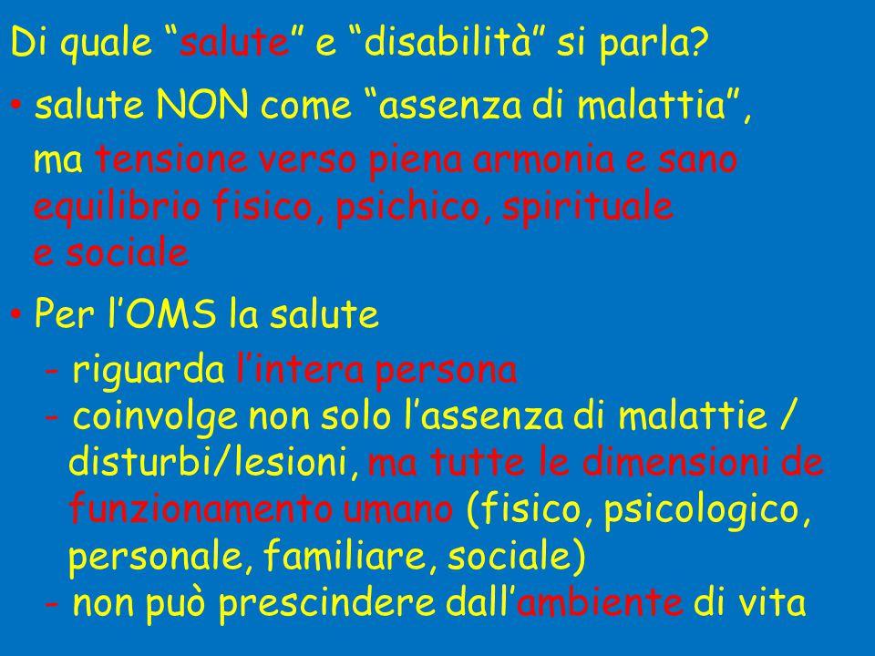 Di quale salute e disabilità si parla