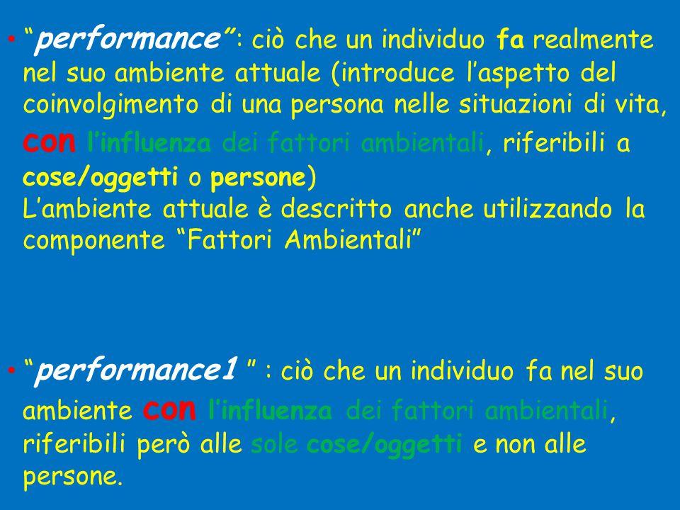 performance : ciò che un individuo fa realmente