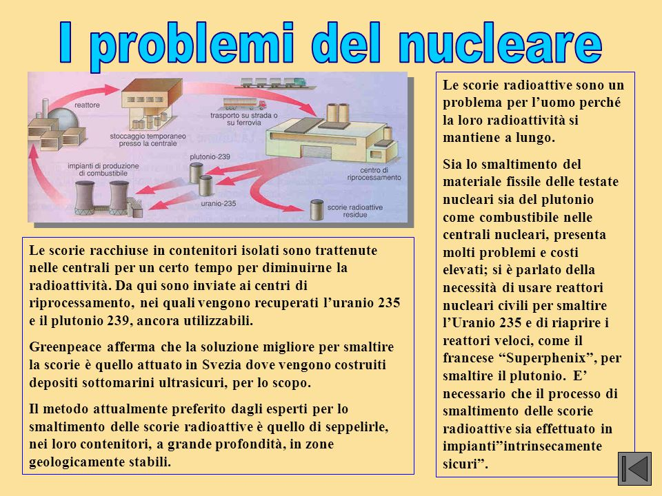 I problemi del nucleare