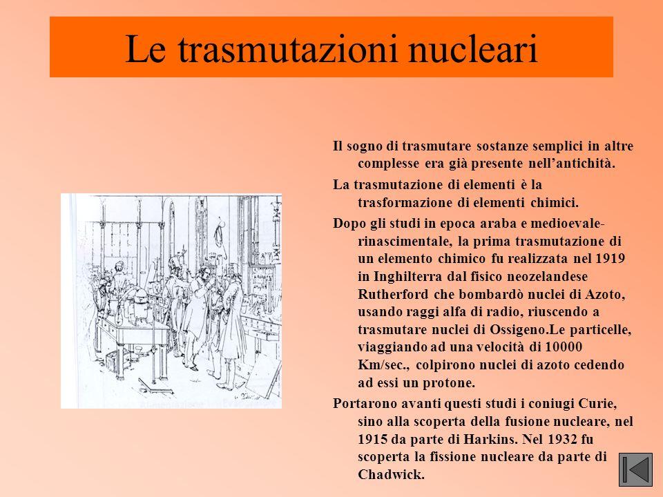 Le trasmutazioni nucleari