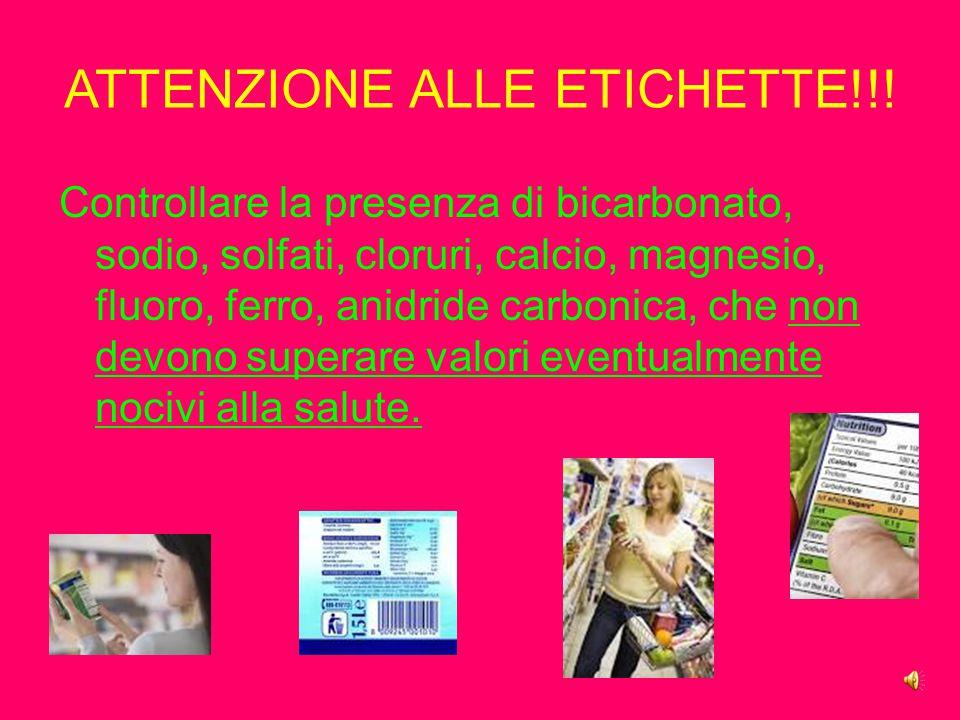 ATTENZIONE ALLE ETICHETTE!!!