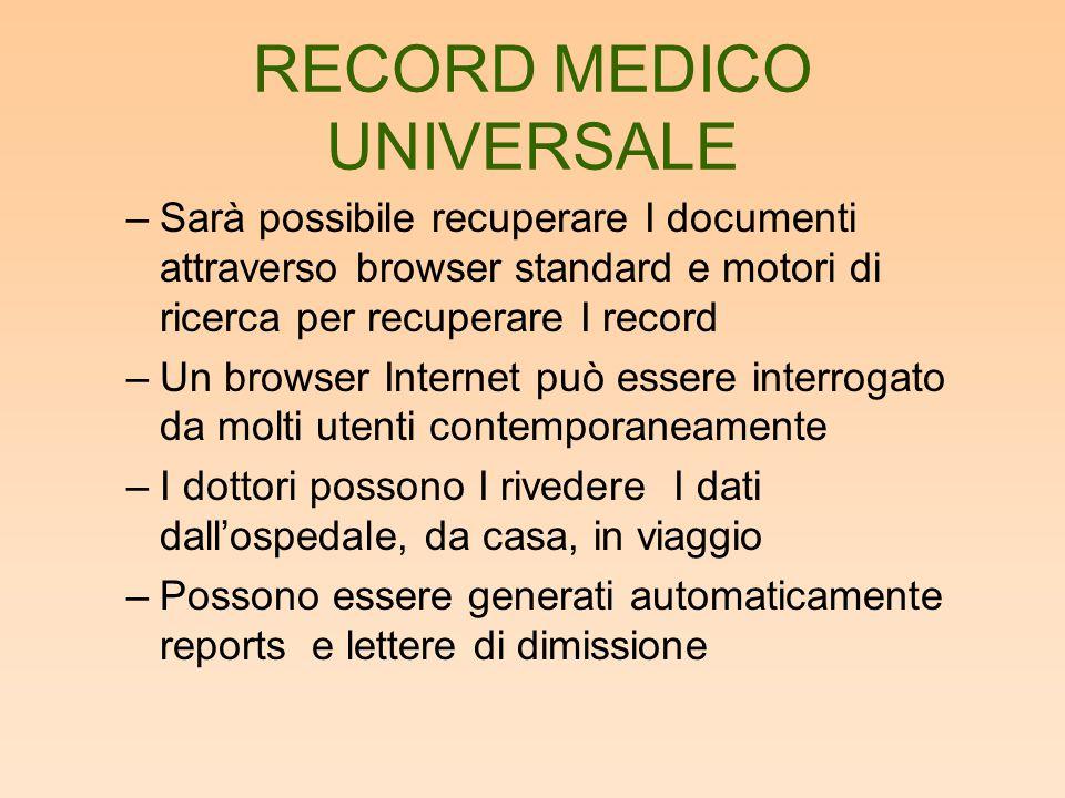 RECORD MEDICO UNIVERSALE