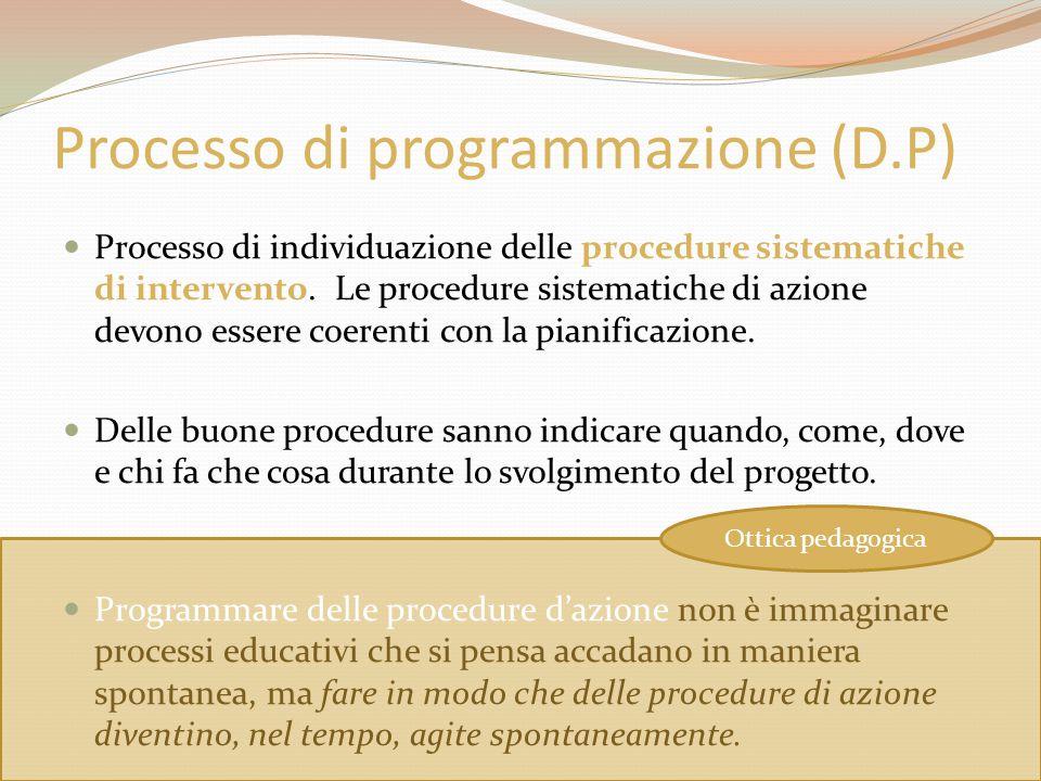 Processo di programmazione (D.P)