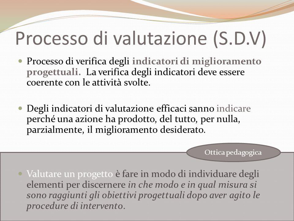Processo di valutazione (S.D.V)