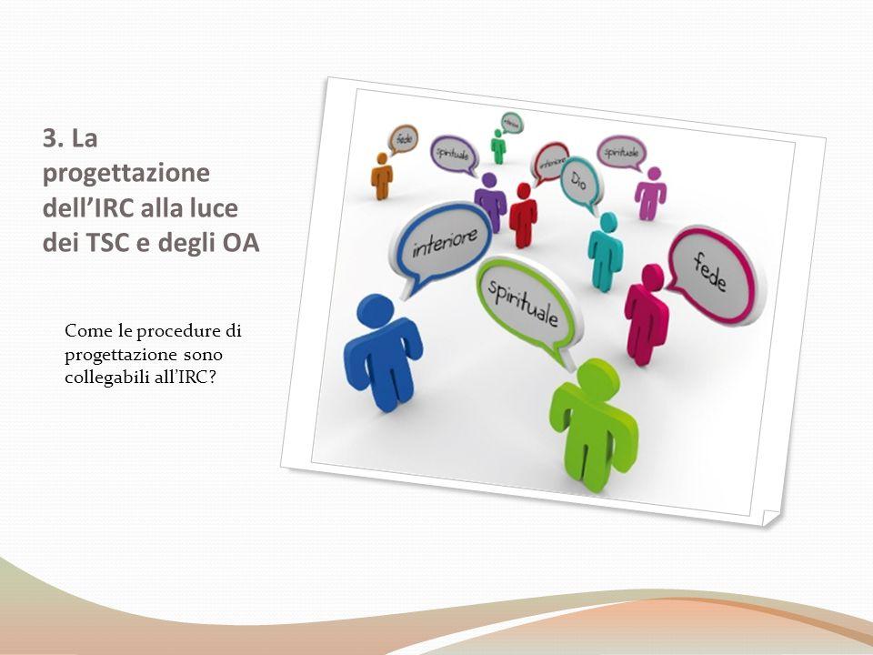 3. La progettazione dell'IRC alla luce dei TSC e degli OA