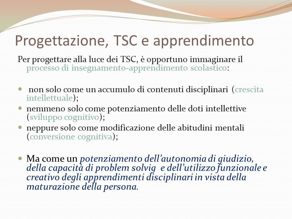 Progettazione, TSC e apprendimento