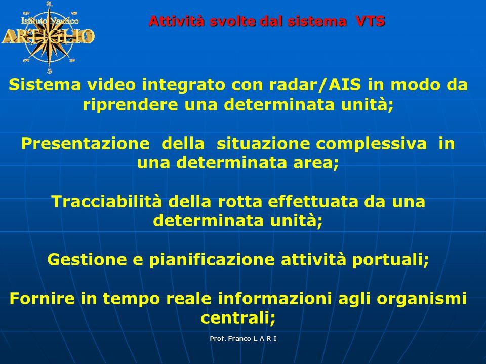 Presentazione della situazione complessiva in una determinata area;