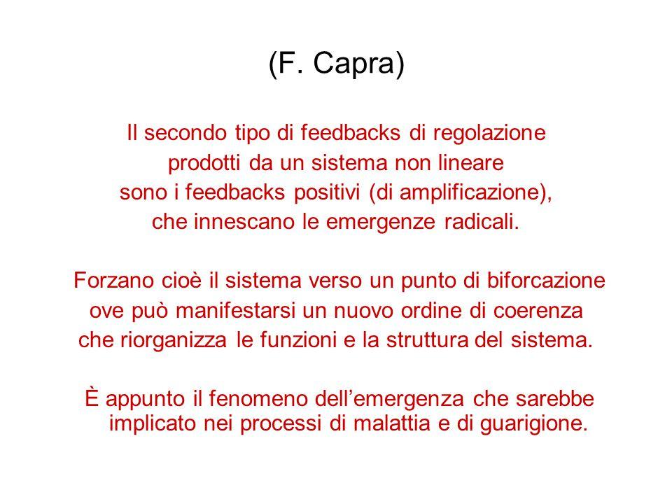 (F. Capra) Il secondo tipo di feedbacks di regolazione
