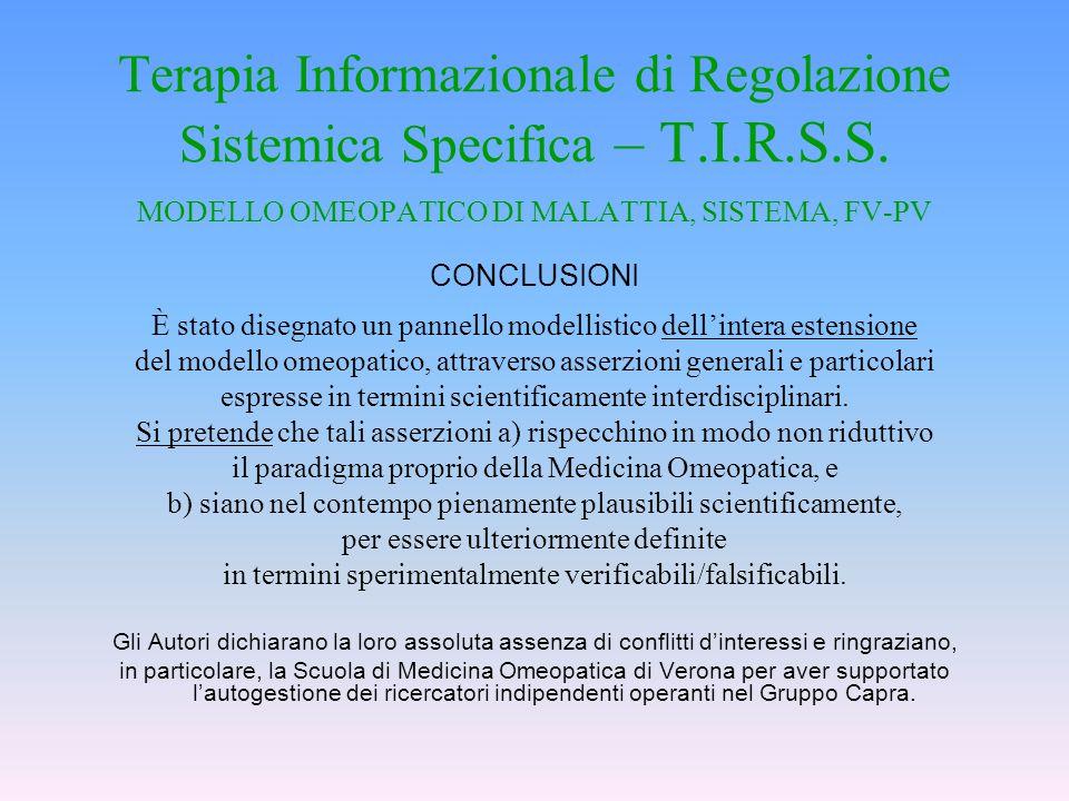 Terapia Informazionale di Regolazione Sistemica Specifica – T. I. R. S
