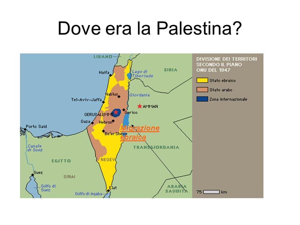 Dove era la Palestina Migrazione ebraica