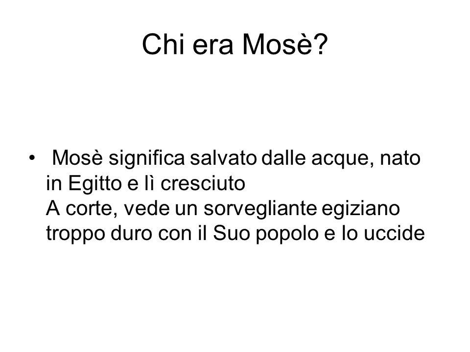 Chi era Mosè