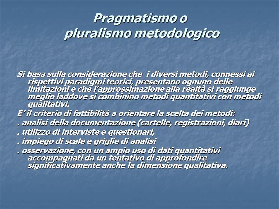 Pragmatismo o pluralismo metodologico