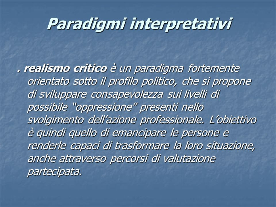 Paradigmi interpretativi