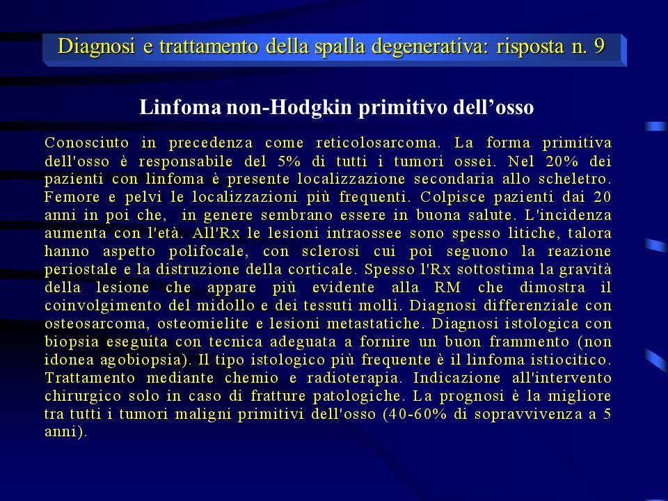 Linfoma non-Hodgkin primitivo dell'osso
