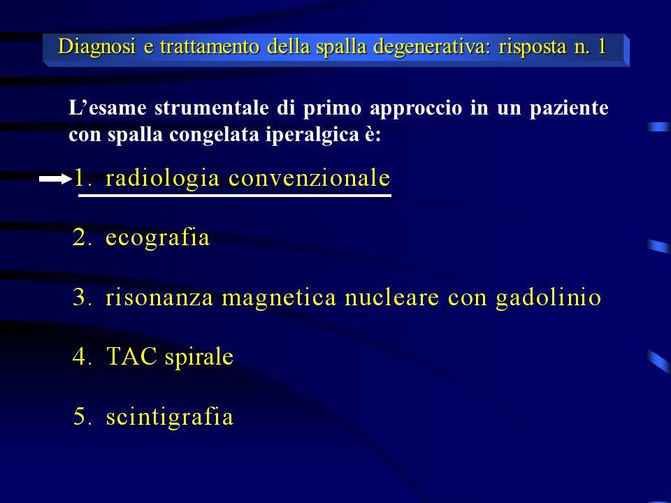 Diagnosi e trattamento della spalla degenerativa: risposta n. 1