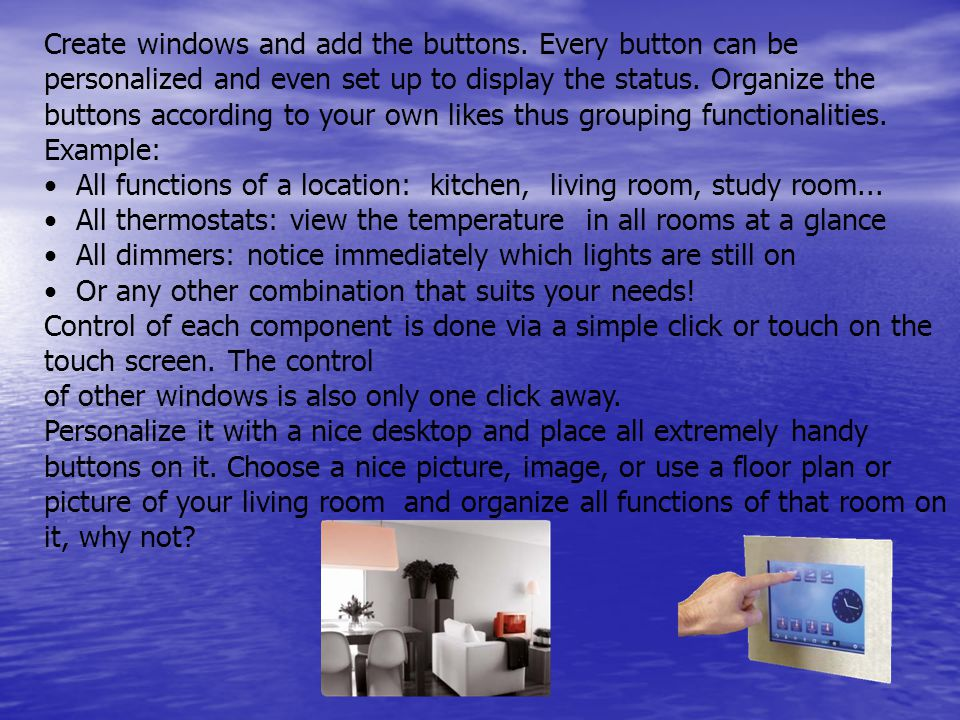 Create windows and add the buttons