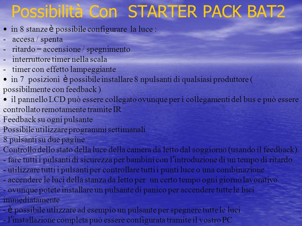 Possibilità Con STARTER PACK BAT2