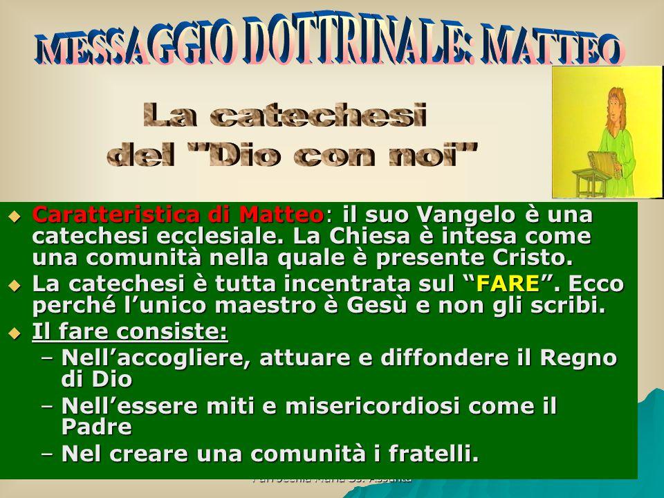 MESSAGGIO DOTTRINALE: MATTEO