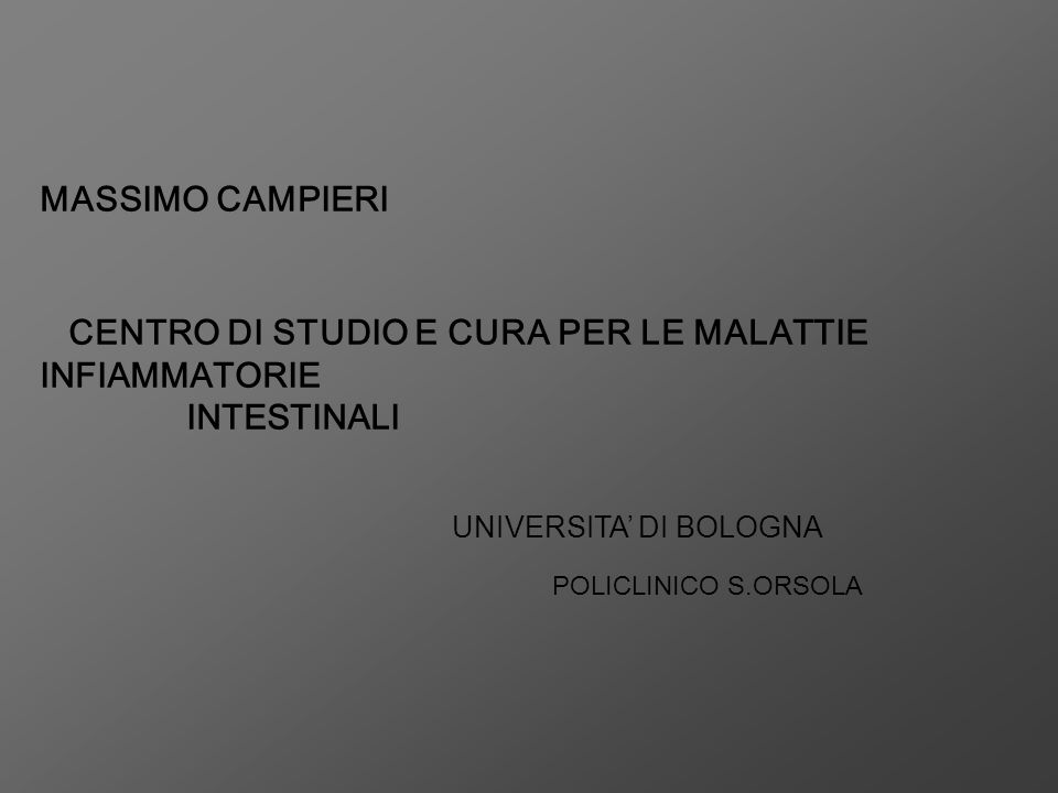 MASSIMO CAMPIERI INTESTINALI UNIVERSITA' DI BOLOGNA
