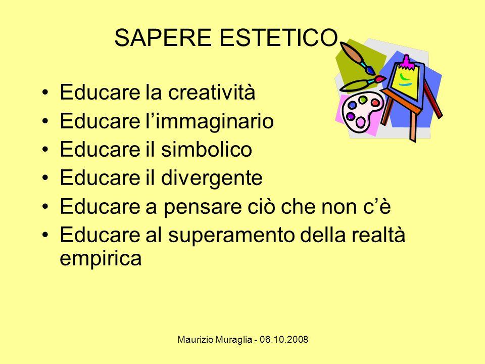 SAPERE ESTETICO Educare la creatività Educare l'immaginario