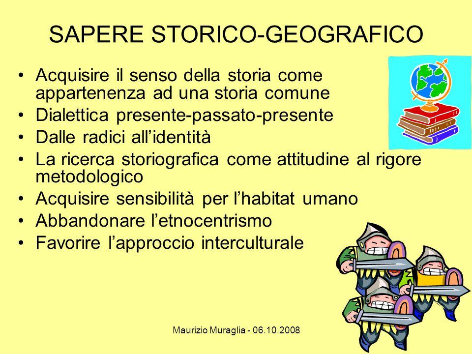 SAPERE STORICO-GEOGRAFICO