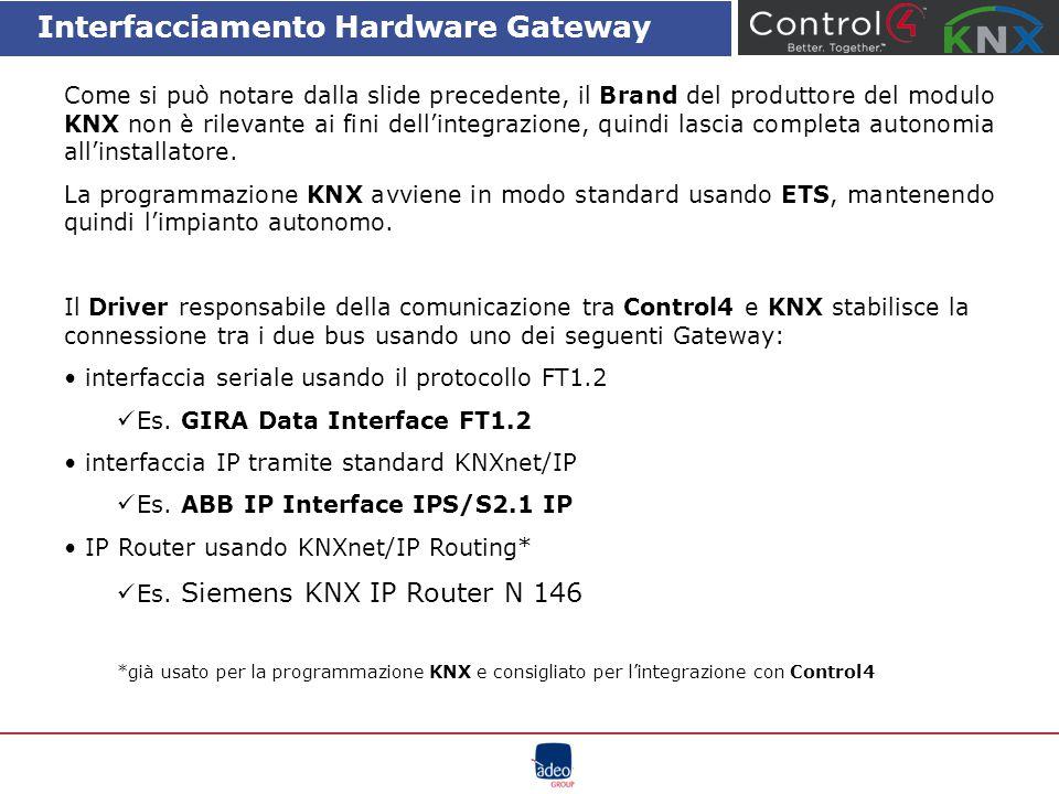 Interfacciamento Hardware Gateway