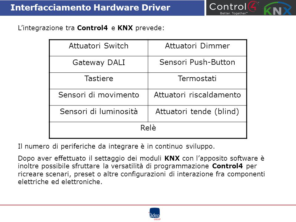 Interfacciamento Hardware Driver