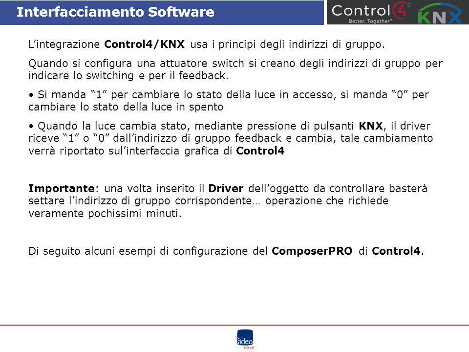 Interfacciamento Software