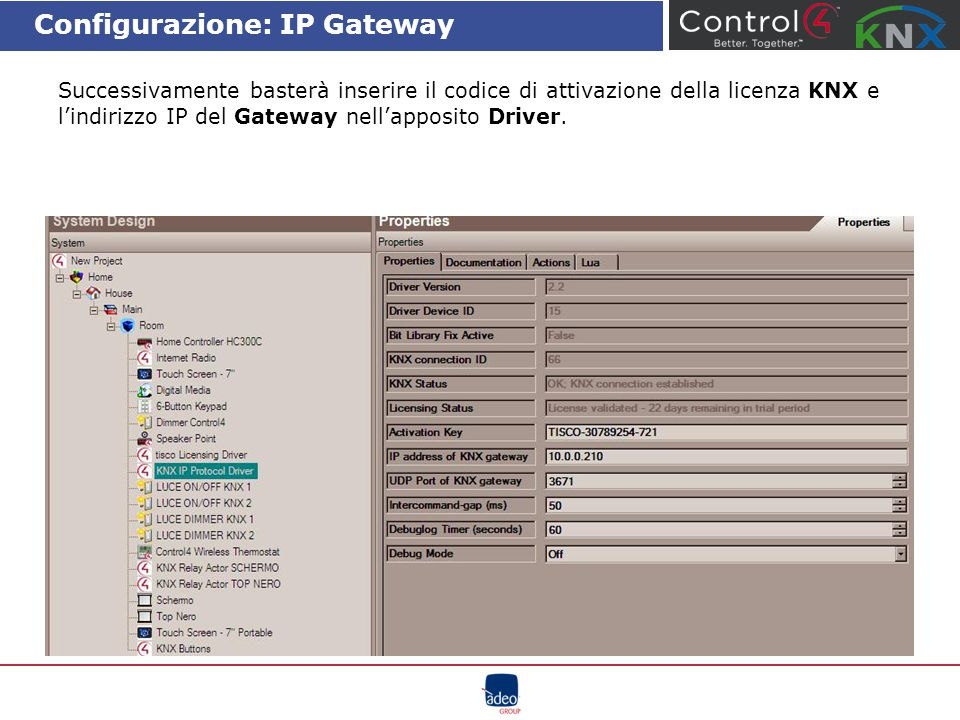 Configurazione: IP Gateway