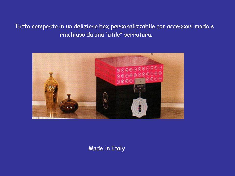 Tutto composto in un delizioso box personalizzabile con accessori moda e