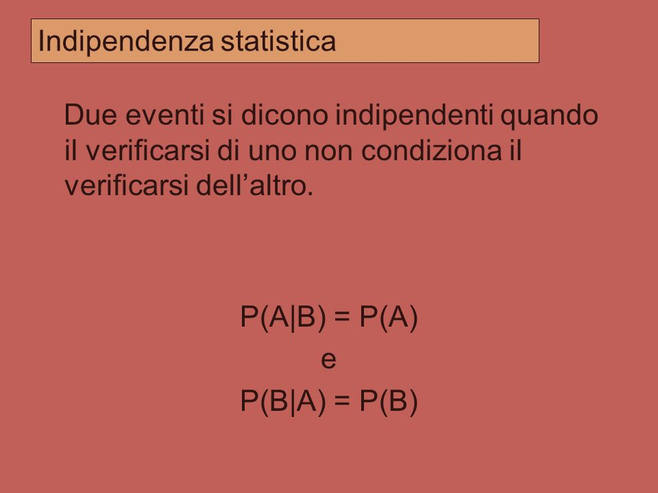 Indipendenza statistica