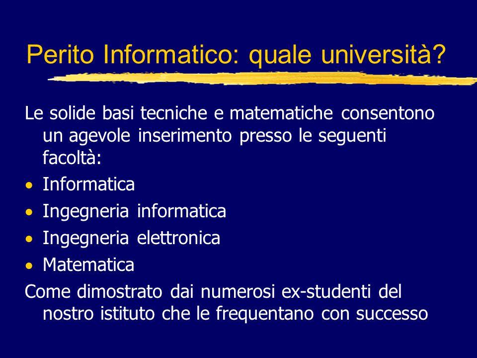 Perito Informatico: quale università