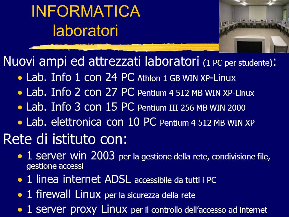 INFORMATICA laboratori