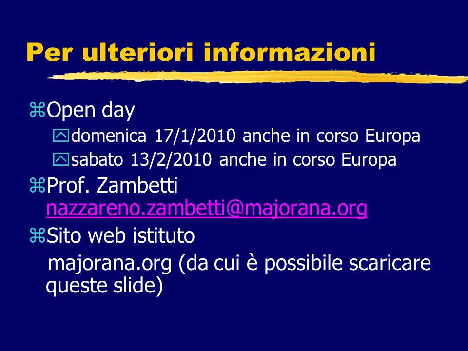 Per ulteriori informazioni