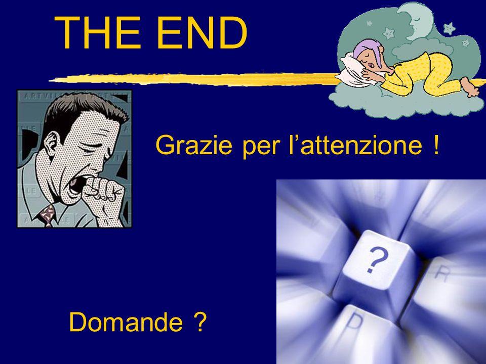 THE END Grazie per l'attenzione ! Domande