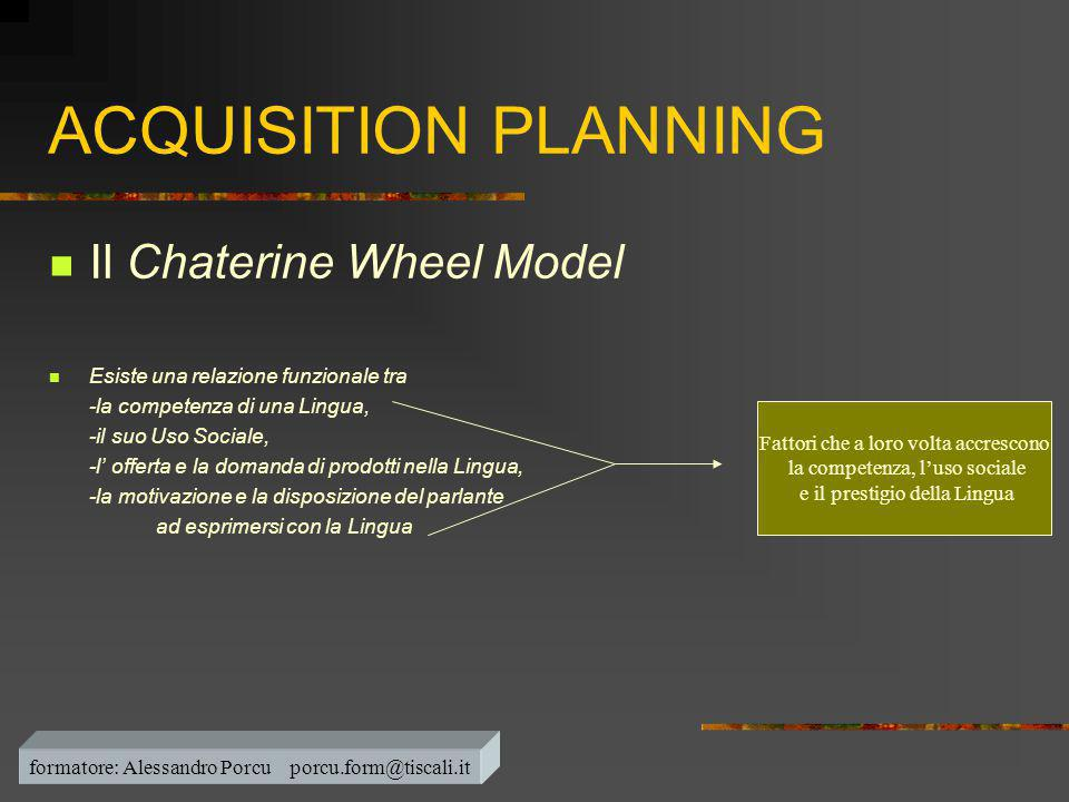 ACQUISITION PLANNING Il Chaterine Wheel Model