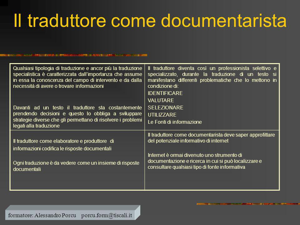 Il traduttore come documentarista
