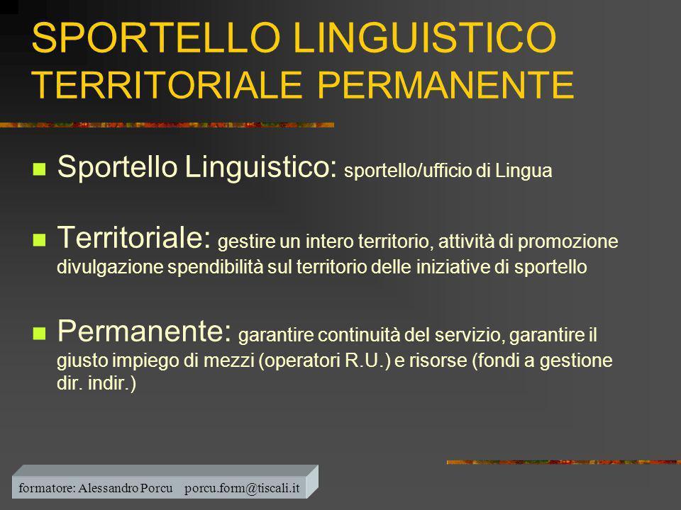 SPORTELLO LINGUISTICO TERRITORIALE PERMANENTE