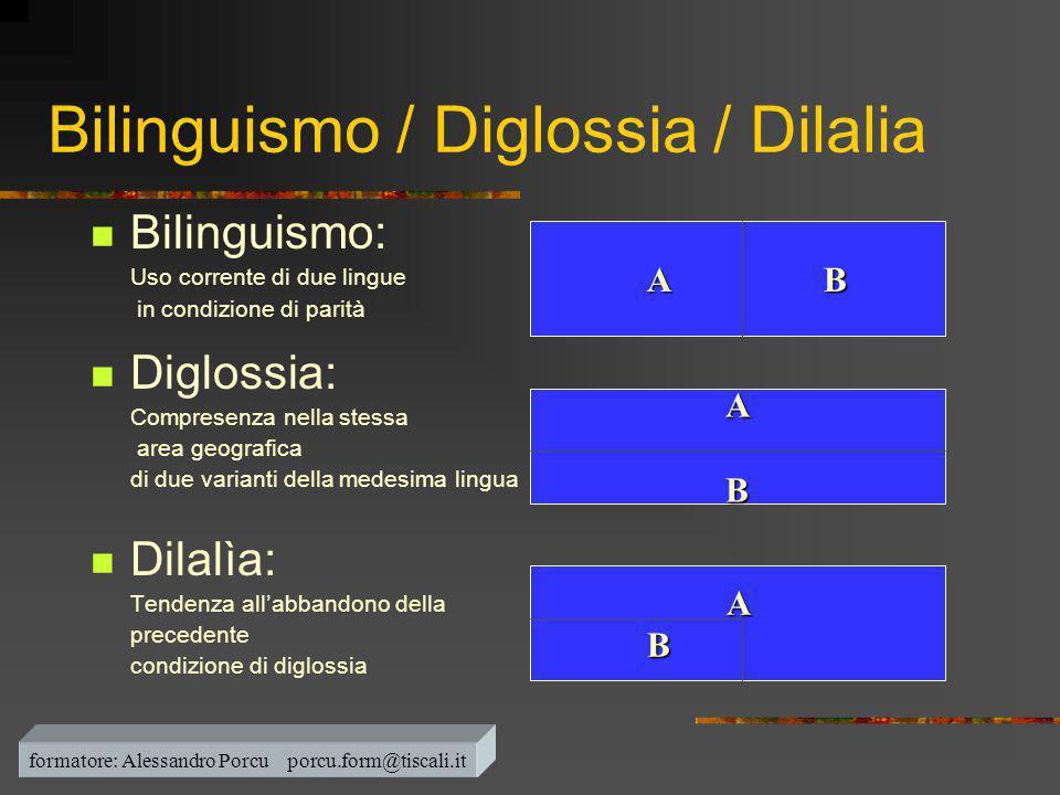 Bilinguismo / Diglossia / Dilalia