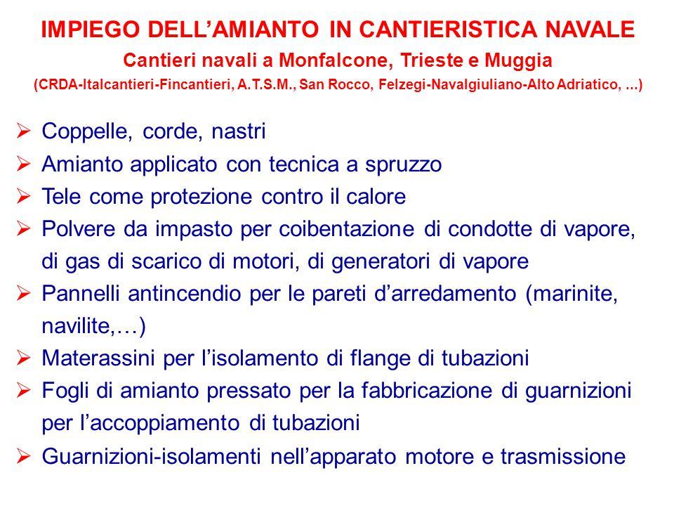 IMPIEGO DELL'AMIANTO IN CANTIERISTICA NAVALE
