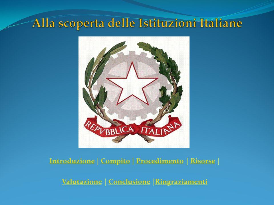 Alla scoperta delle Istituzioni Italiane