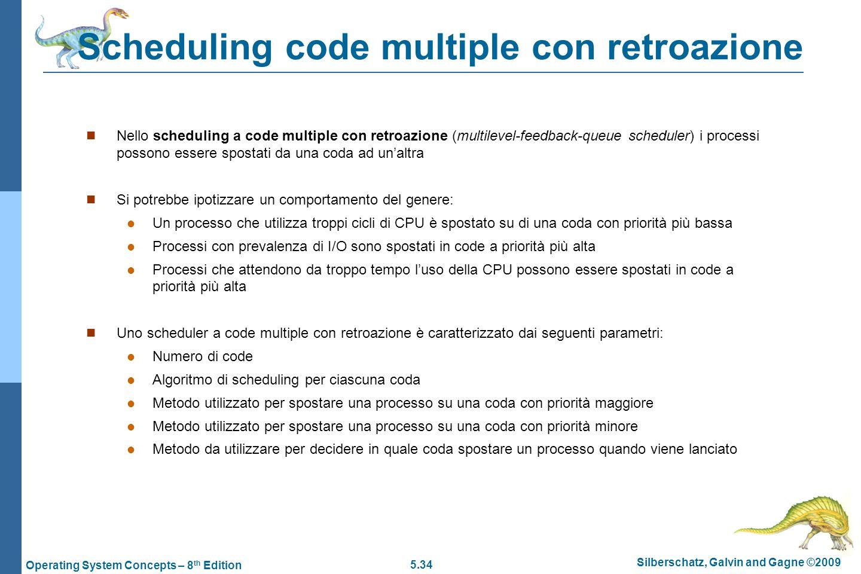 Scheduling code multiple con retroazione